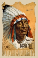 Iron Tail Indian in Buffalo Bill Wild West Show Poster