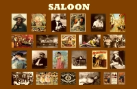 Saloons of the Old West 11x17 Poster