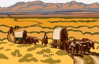 Oregon Trail Mini Poster
