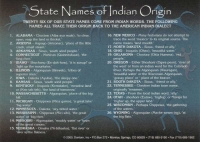 State Names of Indian Origin Jumbo Postcard