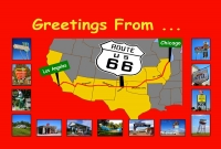 Route 66 Greetings Postcard (4x6)