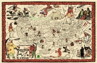 American Indians (Replica) 1952 Map Poster