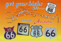 Arizona Get Your Kicks Postcard