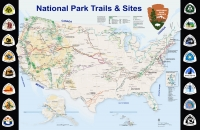 National Trails 11x17 Map Poster