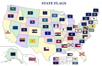 U.S. State Flags Map