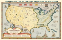U.S. Map After the American Revolution