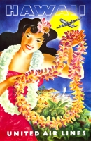 United Airlines Hawaii 11x17 Poster