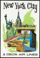 Delta Airlines New York City 11x17 Poster