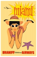 Miami Braniff Airways 11x17 Poster