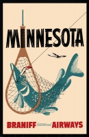 Minnesota Braniff Airways 11x17 Poster