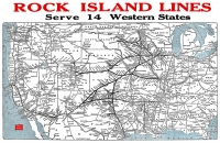 Rock Island Lines Map, 1966 - 11x17 Poster