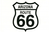Arizona Route 66 Shield Postcard