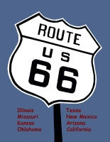 Route 66 Sign Postcard