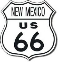 New Mexico Route 66 Road Tin Sign
