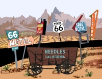 California - Needles, California Graphic