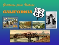 California - Greetings from Vintage California 66 Custom Postcard
