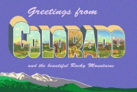 Colorado Greetings Postcard (4x6)
