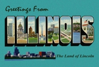 Illinois Greetings Postcard (4x6)