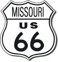 Missouri Route 66 Road Tin Sign
