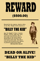 Billy the Kid Wanted 11x17 Poster