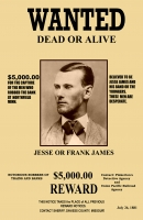 Jesse James Wanted 11x17 Poster