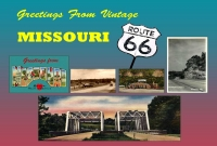 Missouri - Greetings From Vintage Missouri 66 Postcard (4x6)