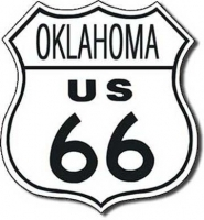 Oklahoma Route 66 Road Tin Sign