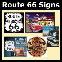 Route 66 Nostalgic Tin Signs