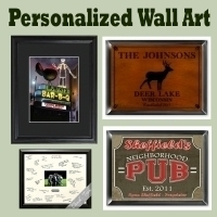 Personalized Wall  on Personalized Wall Art Our Personalized And Engraved Wall Art Includes